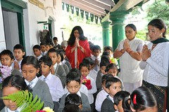 "Praying with the children at the Yogini Yatra School Project • <a style=""font-size:0.8em;"" href=""http://www.flickr.com/photos/80108875@N05/7176950685/"" target=""_blank"">View on Flickr</a>"
