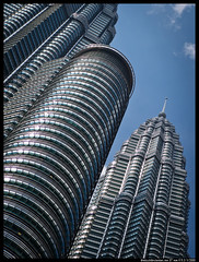 P5110029 - [EXPLORED] (aizuddindanian) Tags: street city building architecture skyscraper towers review twin olympus center sample tall kuala impressions klcc 45mm lumpur omd urbanscapes 14mm aizuddin explored em5 danian