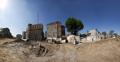 Beneath the Remains (Catalin Pruteanu) Tags: street panorama tree buildings ruins romania bucharest bucuresti buzesti