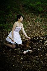 Midsummer (Godwin Imaging Co.) Tags: alex forest woodland dark dead bury woods pretty dress dirt murder juxtaposition burying spade stoddard