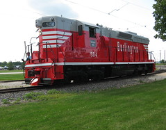CB&Q SD24 (Michael Berry Railfan) Tags: burlington illinois union emd illinoisrailwaymuseum cbq sd24