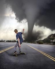 Perfect weather. (David Talley) Tags: road street storm hill windy riding skate longboard skateboard 365 tornado dervish loaded longboarding perfectweather intothestorm loadedboards loadeddervish davidtalley