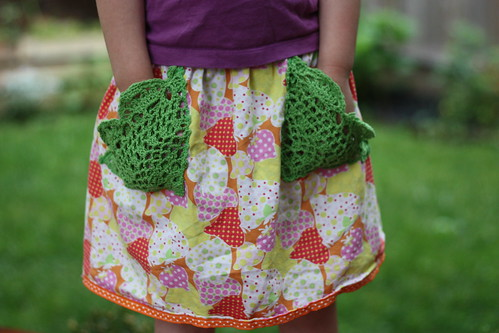 doily pockets on Oliver + S lazy days skirt