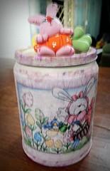 latinha coelhinha rosa (Mrcia Flr) Tags: rosa reciclagem latinha coelhinha