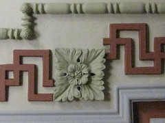 Detail of a Ceiling in the Ballarat Mechanics' Institute - Sturt Street, Ballarat (raaen99) Tags: city roof detail building green heritage century leaf education pattern library cream australia victoria plaster ceiling institute national victoriana trust civic classical chinoiserie 1850s moulding ballarat 19th goldrush listed ornamentation nineteenth 1859 edging countryvictoria mechanicsinstitute freelibrary adulteducation sturtstreet heritageweekend sturtst russett plastermoulding moulure goldrushera greekkeypattern provincialvictoria ballaratmechanicsinstitute educationalestablishment chinoiseriestyle ballaratheritageweekend arcitrave technicalinstitution landmarkbuildingarchitecture historyhistoricaldecoration1860s1870s