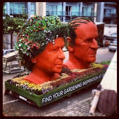 Jubilee (Olly Denton) Tags: uk flowers summer liz london rain june phil jubilee queen battersea 2012 iphone qvc instagram