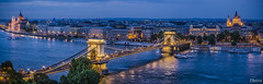 Panorama de Budapest desde el Palacio Real (dleiva) Tags: lighting panorama architecture atardecer twilight arquitectura hungary dusk budapest parliament panoramica crepusculo danube hdr hungria parlamento chainbridge danubio iluminacin puentedelascadenas dleiva domingoleiva