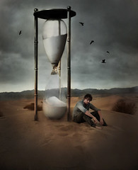 the conspiracy of clocks (Leah Johnston) Tags: man clock death desert time leah fear dune fineart deathvalley poems crows clocks sanddunes johnston hourglass theconspiracyofclocks