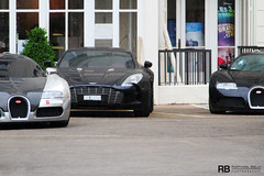 Supercar Day (Raphal Belly) Tags: black up car canon french photography eos one hotel riviera carlton photographie martin cannes swiss line belly chrome arab 7d 164 trio raphael bugatti sang 77 nero rb supercar aston spotting intercontinental pur eb lineup combo veyron noire raphal croisette chromed ettore worldcars one77