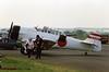 North American Harvard IIB G-AZSC 02 North Weald 14.05.1988 (Victor Vulcan) Tags: plane airplane aircraft aeroplane northweald gazsc northamericanharvardiib