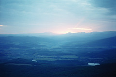 Little to the north of the Lysaya Mountain (Andrey Timofeev) Tags: trees sunset sky sun mountains film nature grass clouds 35mm landscape evening view horizon lakes sunrays crimea  screwmount          helios44  m39  zenit3m  35 ferraniasolaris400    44 3 15may2012 39