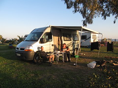 Mavrovoni beach, Gythio - chilling by the van (rh1192) Tags: winter beach january greece camper griechenland motorhome grce campsite wohnmobil womo peloponnese campingcar   gythio yithio gytheio githio  mavrovouni gytheion