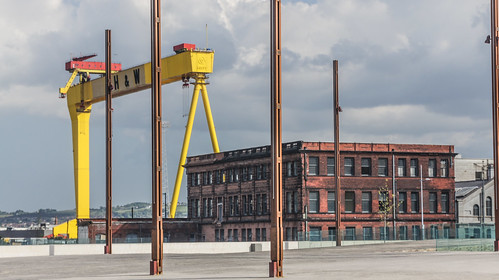 Samson and Goliath are the twin shipbuilding gantry cranes situated at Queen's Island, Belfast