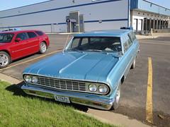 64 Chevrolet Chevelle 300 (DVS1mn) Tags: cars chevrolet car station june wagon four gm estate north bowtie 64 chevy nd dakota sixty nineteen 1964 stationwagon 2012 bismark generalmotors estatewagon estatecar chevies shootingbrake nineteensixtyfour longroof