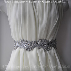 Sash Belt Bridal Rhinestones, Crystals /English Garden/ Statement, Heavy Silver Venice Lace, Beaded 2011-2012 Free Shipping (ArtTiana{TianaCHE on Etsy}) Tags: party fashion hair veil designer handmade victorian halo merino artnouveau prom gift romantic artdeco accessories weddings etsy maidofhonor luxury couture coctail handcraft facebook plussize alfonsmucha 2011 vintagelook twitter   twitpic etsygift  tianache weddingbelt etsyfashion crystalsash wedlux enzoaniinspired austrianrhinestones bridalluxsash lacybeadedsash promdresssash rosesbridalveil swarovskibeaded uniquesashbelt venicelacebelt veniselacesash wedeclectic