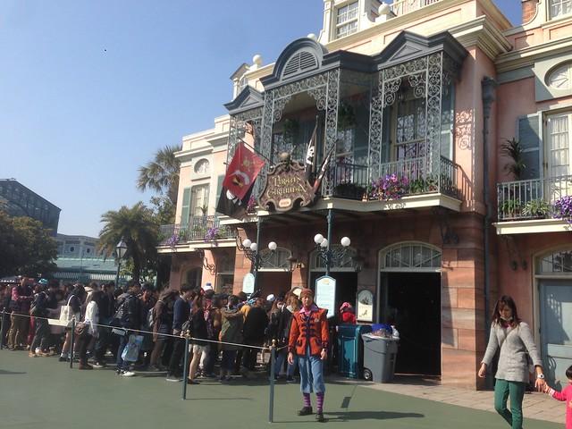 カリブの海賊も1時間待ちでした。|東京ディズニーランド