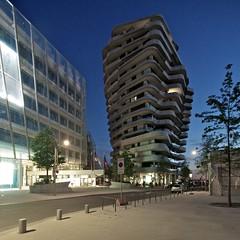 Marco Polo Tower (lars_uhlig) Tags: city architecture night port deutschland nacht harbour hamburg stadt architektur hafen elbe hafencity