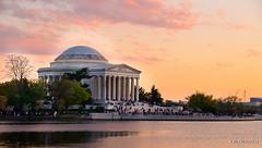 Jefferson Memorial, Washington DC (nilkpic1) Tags: sunset washingtondc jeffersonmemorial tidalbasin nikond7000 nileshkhadsephotography