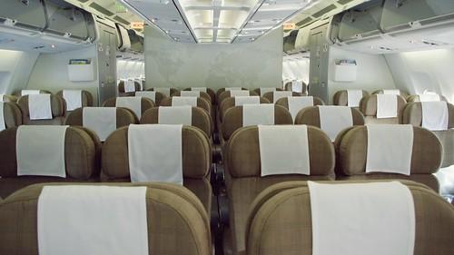 Onboard A340-300 Economy Class - Swiss