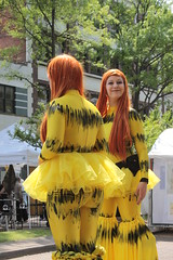 IMG_7145 (Theory Of Flight) Tags: girls streetart art girl festival cosplay streetperformers urbanart portsmouth artshow coed redhair stilts stiltwalkers gosport artfestival coeds gosportartfestival
