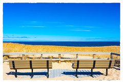 Seaside (Timothy Valentine) Tags: shadow beach bench provincetown massachusetts large monday 0316 2016