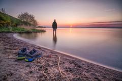 Selfie over the Loch (blairmchattiephotography) Tags: sunset portrait beach water self scotland nikon long exposure fife manual d7000