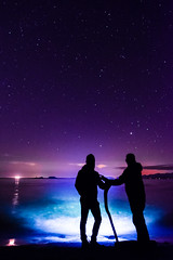 Look! (~138~) Tags: longexposure friends light shadow sky canada lightpainting colour look silhouette night stars fun outdoors lights cool nightlights colours bc purple awesome paintingwithlight trippy lightart lightpaint shadowpeople singleexposure whittyslagoon