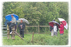 Waiting for the Flying Scotsman (Missy2004) Tags: rain weather umbrellas rainwear 8116 116picturesin2016