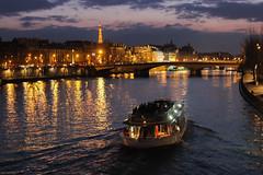 Paris night (- Erdenebileg Bat-Erdene -) Tags: cruise paris tower seine night river boat eiffel romantic