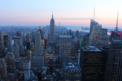 Top of the Rock (music_man800) Tags: new york city nyc pink blue sunset sky urban usa mist holiday newyork color colour building rock skyline architecture night america canon buildings river landscape liberty photography lights evening march high haze scenery perfect colorful pretty cityscape view apartment skyscrapers floor state dusk top pastel centre united picture shades jungle hour empire highrise hudson block states colourful rockefeller rise tone edit 69th pciture gimp2 700d