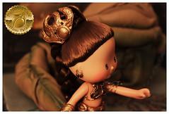 Princess Leia Slave Girl Custom 13 (Plum's Place) Tags: starwars princessleia strawberryshortcake ooakdoll slavegirlleia retro80s retrotoys plumsplacecustoms plumsplace