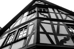 Cochem Fachwerk (tcmappes) Tags: blackandwhite house germany interesting niceshot cochem mosel fachwerkhaus oldvillage