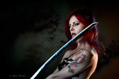 Leyna-and-Sword (beabss) Tags: portrait studio model sword nikond4s