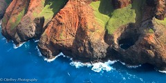 The Na Pali Coast (OJeffrey Photography) Tags: ocean blue red green hawaii nikon aerialview aerial helicopter pacificocean kauai hi d800 ojeffrey ojeffreyphotography