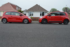 The Two Amigos (davids nikon) Tags: red house color colour car wheel sport volkswagen nikon vehicle modified simply bungalow clever talbot skoda coilover citigo d3200