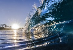 Crystalline (MicahRoemmling) Tags: ocean sky water sunrise surf barrel wave maui makena bigbeach