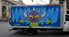 2016_06_29_0002 (TheMachineStops) Tags: nyc newyorkcity streetart truck graffiti outdoor manhattan vehicle boxtruckguardians