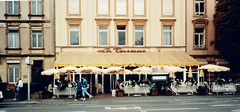Luxembourg   -   Luxembourg City   -  Restaurant La Terrasse    -    September 1989 (Ladycliff) Tags: luxembourg luxembourgcity
