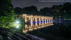 Central Park Lake Boathouse (DSC01510) (Michael.Lee.Pics.NYC) Tags: longexposure lake newyork reflection night rocks centralpark sony boathouse slope a7rm2 zeissloxia21mmf28