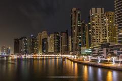 Dubai Marina by night (...::: Antman :::...) Tags: dubai duba dubaimarina marina buildings immeubles night nuit city ville reflection urban
