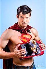 Superman (Philip Bonneau) Tags: shirtless male car dc paint comic character barbie superman hero cape dccomics conceptual philip bonneau
