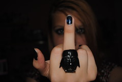 """fuck you"" vader, darth. (ellathemermaid) Tags: macro girl fuck you ring darth vader darthvader redhair"