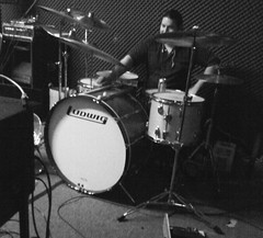 Dave at practice (Lotus Born) Tags: vintage percussion ludwig drumkit