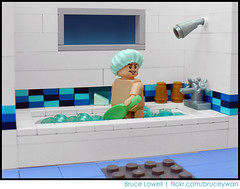 OH HELLO (bruceywan) Tags: tile bathroom bath pattern lego bruce tub photostream lowell moc ib1 ironbuilder brucelowellcom ironbuilderblcom ibblcom