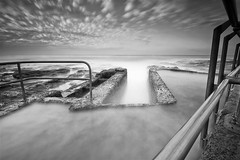 Another Big Stopper B&W (madarchie0) Tags: longexposure bw handrails newcastleoceanbaths leebigstopper