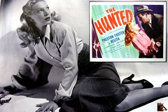 Preston  FOSTER  and  BELITA  in  THE  HUNTED  [1948, Allied Artists] Director: Jack BERNHARD (mhdantholz) Tags:
