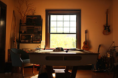 Miss Kitty (rachelbujalski) Tags: cat room kitty guitars naturallight pooltable kittycat