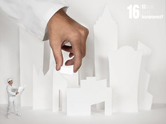 Build (16/52) - Projet blanc /// B comme Btir (LEVARWEST) Tags: white building me construction hand autoportrait main mockup build blanc chantier maquette whiteproject 52weeksproject projet52 levarwest projetblanc
