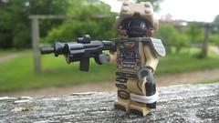 New Desert Heavy Soldier (The Brick Guy) Tags: lego military printing awr decal magazines custom visor minifigure brickarms newdesert amazingarmory tinytactical eturior eclipsebricks brickwarriors
