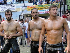 Oil Wrestlers (d.mavro) Tags: shirtless beautiful leather sport greek big fighter nipples body masculine muscle muscular wrestling chest traditional butt north handsome hunk sensual arena greece strong torso wrestler biceps hombre hommes turk homme bulge serres jeune grecoroman muchacho pehlivan yal gre athlet nigrita